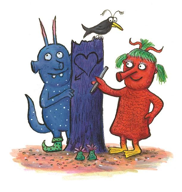 Smrveni i Smlavi - ilustracija